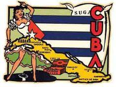 It's die cut to the shape of the artwork. Vintage Cuba, Vintage Havana, Vintage Travel, Vintage Illustration Art, Vintage Artwork, Vintage Posters, Carnal, Cuban Art, Hispanic Heritage
