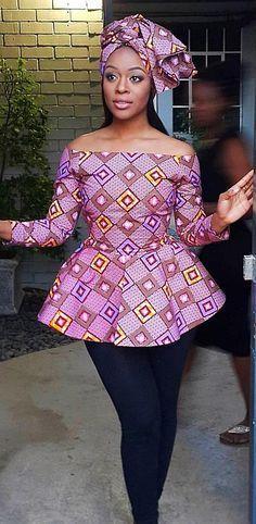 Ankara latest fashion, ankara print top with headwrap, African fashion, Ankara, … Remilekun - African Styles for Ladies African Fashion Designers, Latest African Fashion Dresses, African Fashion Ankara, African Print Dresses, African Dresses For Women, African Print Fashion, Africa Fashion, African Attire, African Women