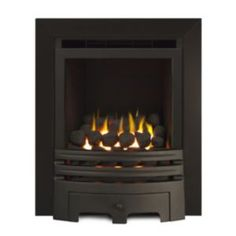 Ignite Westerly Chrome effect Gas Fire. If you prefer the look of a real flame then this stylish gas fire is ideal for you. Open fronted full depth gas fire by Ignite Gas Fires, Chrome, Home Appliances, Glass, Home Decor, Stylish, Health, Products, House Appliances