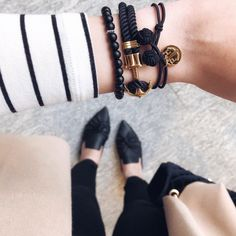 """831 Likes, 58 Comments - Blogger • Aliya (@stylebyaliya) on Instagram: """"Arm Candy anyone? PHREP and KNOT bracelets from @paul_hewitt on repeat this Friday. . .…"""""""