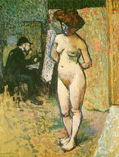 Albert Marquet. (Burdeos, 1875-París, 1947), Matisse dans l'atelier de Manguin