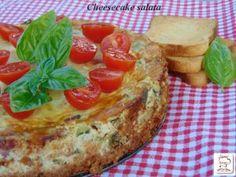 Cheesecake salata ottima per un aperitivo, o per un buffet