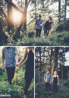 Woodsy Engagement Session - this is dreamy and perfect! Engagement Session, Engagement Couple, Engagement Pictures, Engagements, Couple Photography, Engagement Photography, Photography Poses, Wedding Photography, Engagement Photo Inspiration