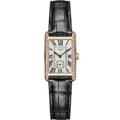 Longines DolceVita Ladies Small L5.255.9.71.0 Watch (3,710 CAD) ❤ liked on Polyvore featuring jewelry, watches, polish jewelry, longines watches, longines, roman numeral jewelry and roman numeral wrist watch