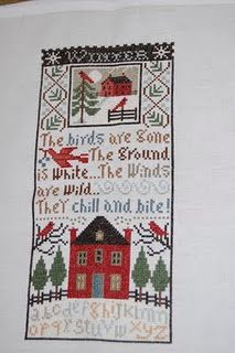 Prairie Schooler Winter Wind - love it!!!  (...cr....notice the upper part of this chart...it is the pattern used for the ornament right next to it on my boards...so nice)