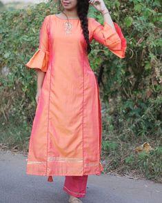 38 Unique Fashion Ideas That Will Make You Look Great - Luxe Fashion New Trends - Fashion for JoJo Salwar Designs, Kurta Designs Women, Kurti Patterns, Dress Patterns, Dress Neck Designs, Blouse Designs, Kurta Neck Design, Indian Designer Wear, Unique Fashion