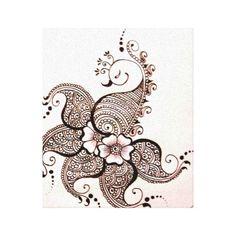 mendhi birds | Mehndi Bird Henna Wrapped Canvas Stretched Canvas Prints | Zazzle.co ...