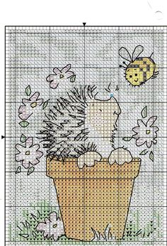 egel in bloempot