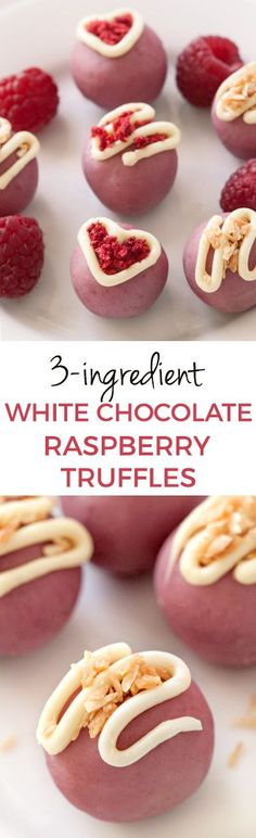 3-ingredient Naturally-colored Raspberry White Chocolate Truffles