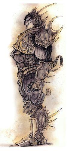 Tony Diterlizzi   tags} Marut - by Tony Diterlizzi TSR - Planescape Monstrous ...