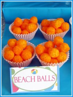 "Pool Party-""beach balls"" snack"