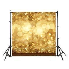 2b5a7f4b021 christmas background props - DODOING 10x10ft Gold Bokeh Glitter Photo  Backdrop