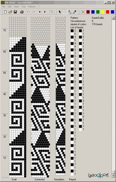 loom beading patterns Source by miskocarneim Bead Crochet Patterns, Bead Crochet Rope, Weaving Patterns, Beaded Crochet, Bead Loom Bracelets, Beaded Bracelet Patterns, Seed Bead Tutorials, Beading Tutorials, Bead Loom Patterns