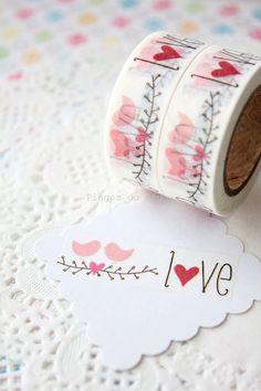 Love Washi Tape Scrapbooking Paper Goods Gift by pingosdoceu