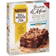 Nestle TOLL HOUSE Brownies & More Chocolate Baking Mix with Butterfinger Baking Bits, 16.625 oz Box
