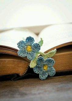 Forget-Me-Nots so you won't forget your place... ~~ Houston Foodlovers Book Club