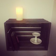 Floating nightstand! Super cheap but looks amazballs:-)