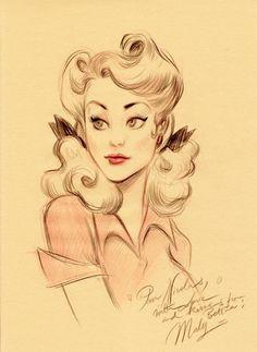 "awkwardanimator:    I love the ""lightness"" of this drawing…"