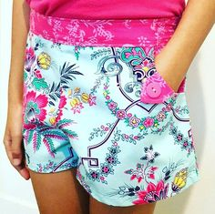 Shorts in Jilly from Sis Boom Lucky Girl sewn by paisleyavenue.