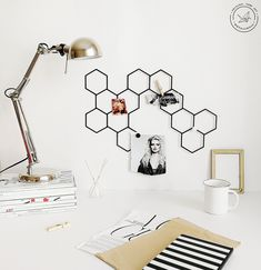 """""""A wall organizer Memo board Honeycombs is an indispensable device in the workplace of a successful designer, photographer, and any creative person actually. It helps keeping a workspace clean and all right, give inspiration and remind you about deadline at the right time. FREE EXPRESS Shipping in USA & Europe! (DHL max. 3-5 days Attention to buyers from Canada and Europe. The price does not include customs duties and import taxes. Buyers are responsible for any customs and import taxes that Art Display Panels, Kraft Packaging, Decorative Panels, Bathroom Colors, Office Organization, Metal Wall Art, Wall Signs, Interior, Honeycombs"""