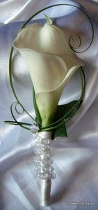 wedding corsages with crystals | Wedding-buttonhole-corsage-calla-lilly-and-crystal-stem