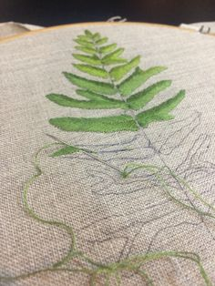 Fern leaves embroidery by KachaMalee #embroidery #chiangmai