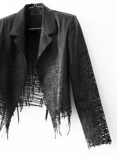 Art/Fashion True Fusion by Elvira 't Hart – L E A T H E R laser cut pieces