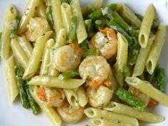 Asparagus :Two Pasta Recipes...Recipe no 1: Lemon Pasta with Asparagus...Recipe no 2: Pasta with Shrimp and Asparagus