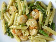 Asparagus :Two Pasta Recipes...Recipe no 1: Lemon Pasta with Asparagus...Recipe no 2: Pasta with Shrimp and Asparagus