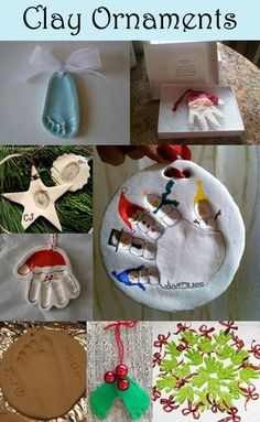 Clay Handprint & Footprint Ornament Keepsakes by Kechagiadaki Dora