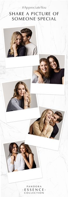 Join us and show a special someone how much you appreciate her. Share a picture and include #AppreciateYou We will gather your sweet gestures here on this board. #PANDORAessencecollection