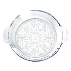 Pie Plate - 9 in. w/handles  - Circle Design