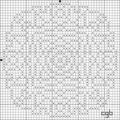 Free Geometric and Monochromatic Cross Stitch Patterns - Free Printable Charts: Free Rose Window Counted Cross Stitch Pattern - Free Printable Chart