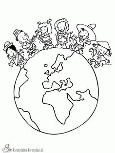diversidade cultural, desenhos, para colorir, 21, de maio, pintar, imprimir Earth Day Coloring Pages, Colouring Pages, Coloring Sheets, Coloring Books, Around The World Theme, Celebration Around The World, World Crafts, Bible For Kids, Art Plastique
