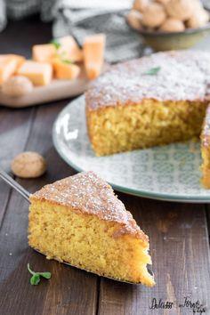 Torta dolce di zucca e amaretti semplice e soffice | Dulcisss in forno Cake Cookies, Cupcakes, Muffins, Biscotti, Mini Desserts, Cornbread, Oven, Food And Drink, Pumpkin