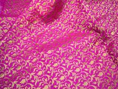 Brocade Fabric Remnant in Magenta and Gold Gold Banarasi | Etsy Cotton Silk, Printed Cotton, Cotton Fabric, Motif Design, Fabric Design, Etsy Fabric, Brocade Fabric, Jacquard Fabric, Indian Fabric