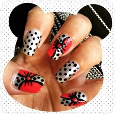 Bow nailart