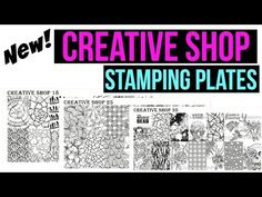 Creative Shop stamping plates 18, 25 and 35