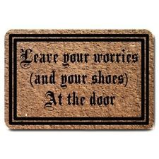 Leave your worries (and your shoes) At the door - Doormat - Or Customise - B/New