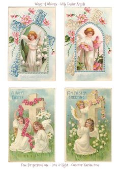 Wings of Whimsy: Holy Easter Angels - free for personal use vintage ephemera printable freebie easter Fete Pascal, Envelopes, Victorian Crafts, Victorian Angels, Victorian Christmas, Easter Printables, Free Printables, Printable Tags, Vintage Greeting Cards