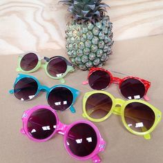 Tutti Fruity Quay...can we ever have to much colour in our lives? #quay #sunnies #summer #colour #pineapples