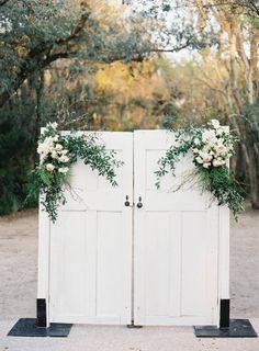@mikaellabridal | Real Bride Wedding Theme- rustic look, love this door idea for pictures!