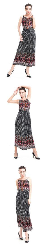 Black Spaghetti Strap Print Dress