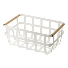 Storage Boxes, Storage Bins & Storage Baskets You'll Love in 2020 Storage Cart, Storage Bins, Storage Containers, Wire Storage, Food Storage, White Storage Baskets, Metal Baskets, Kitchen Organization, Kitchen Storage
