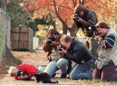 When he was in office, Socks Bill Clinton's pet cat, was being hounded by the paparazzi.