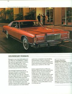 1978 Mercury Marquis Two Door Hardtop Buick Electra, Chrysler New Yorker, Us Cars, Sport Cars, Mercury Marquis, Edsel Ford, Ford Ltd, Mercury Cars, Grand Marquis