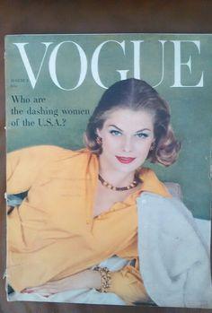 ***VINTAGE VOGUE MAGAZINE August 1st 1958 Henry Clarke cover   eBay