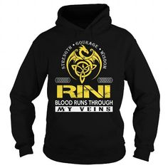 I Love RINI Blood Runs Through My Veins (Dragon) - Last Name, Surname T-Shirt T shirts