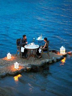 Romantic Dining - Mykonos, Greece #romance #romantic