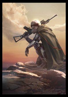 spassundspiele:  Phasma – Star Wars fan art by Sebastian Kowoll
